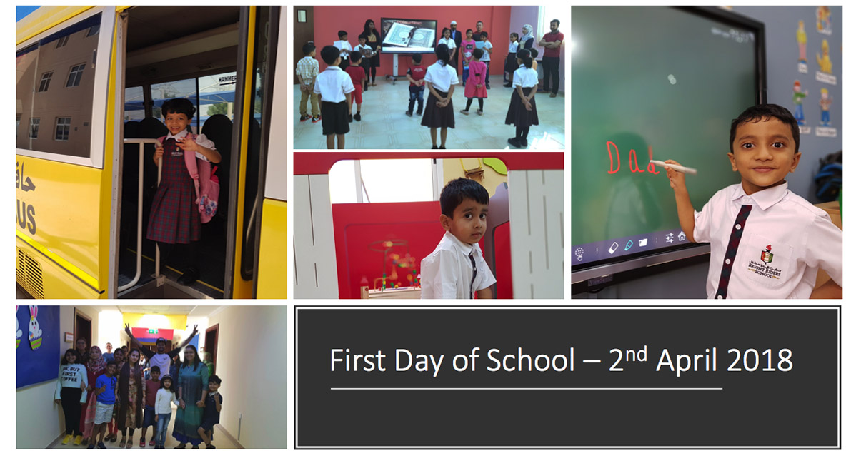 First Day of School – 2nd April 2018