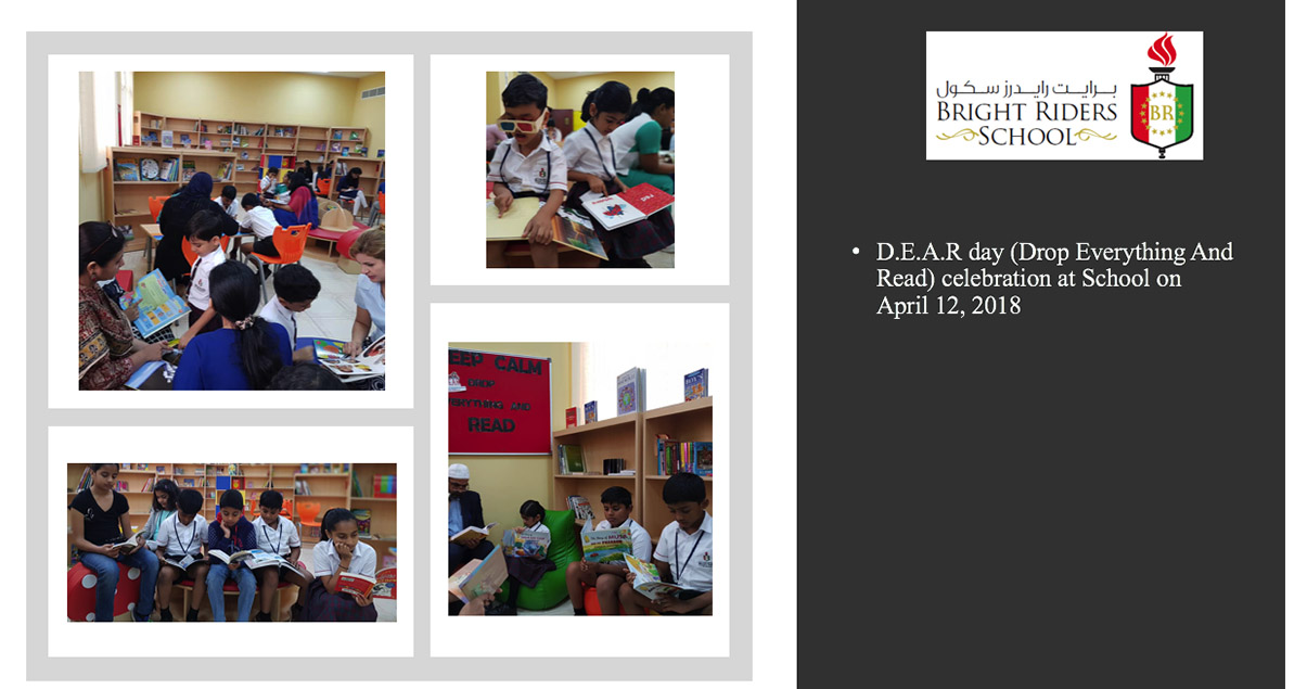 D.E.A.R day (Drop Everything And Read) celebration at School on April 12, 2018